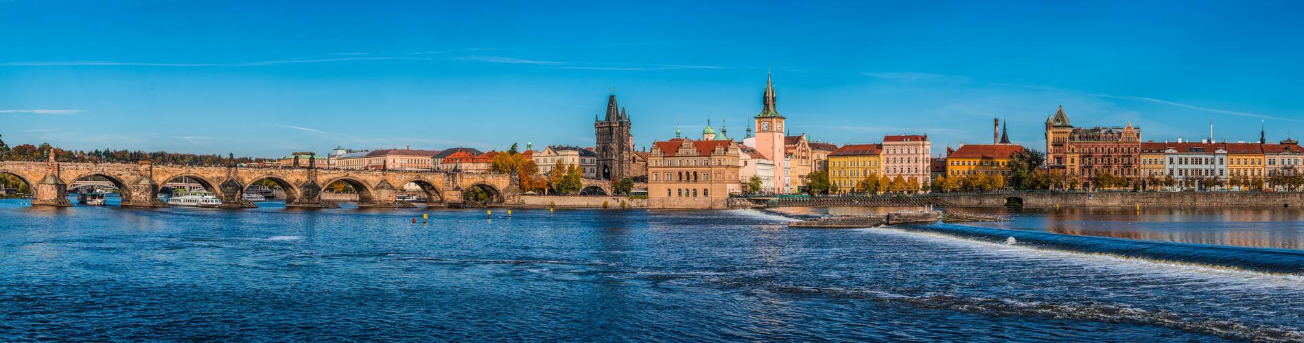 Prag im Herbst Panorama
