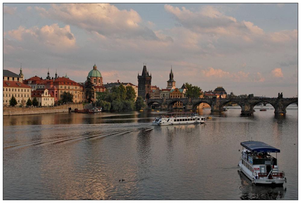 Prag... im licht der untergehenden sonne