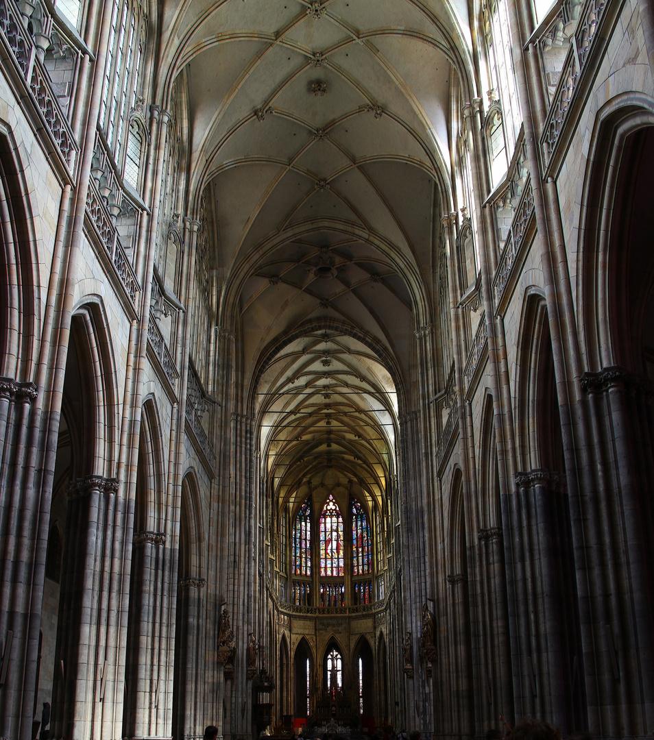 Prag, inside St.Veits cathedral, Praha, Katedrála svatého Víta, Václava a Vojtecha