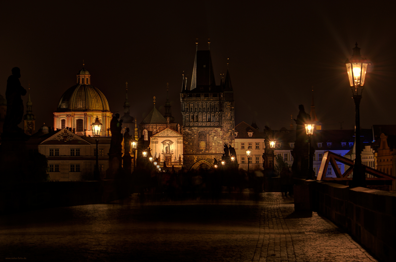 Prag - Karlsbrücke zur später Stunde