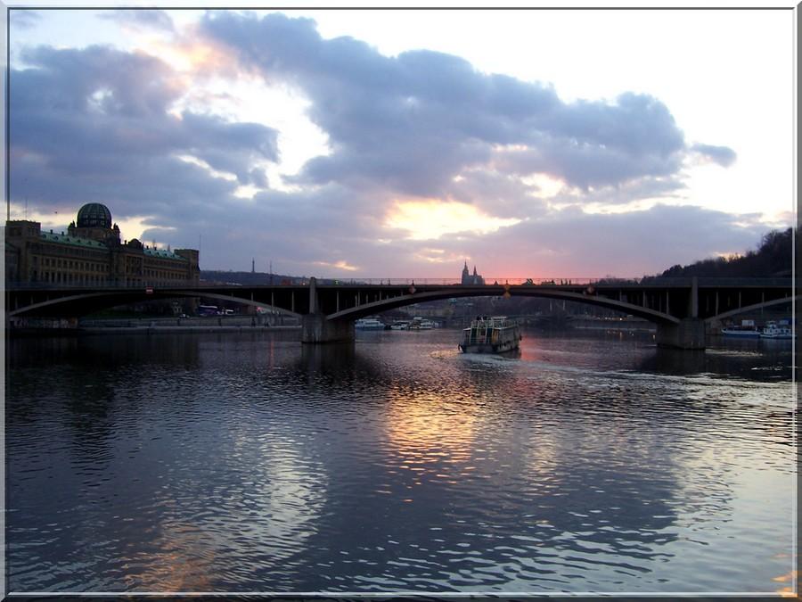 Prag sunset