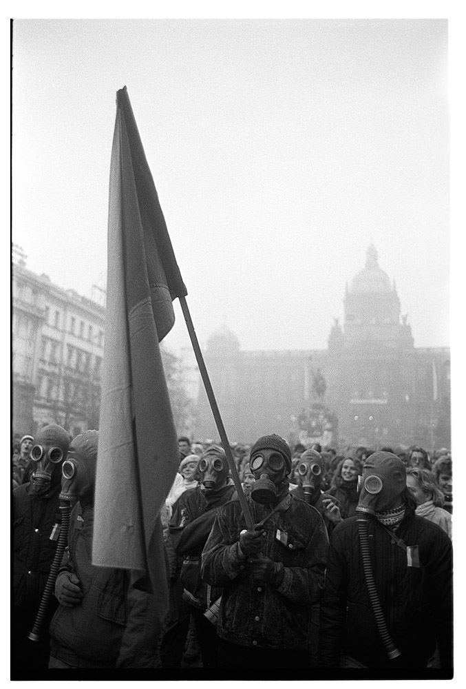 Prag, Wenzelsplatz, Dezember 1989