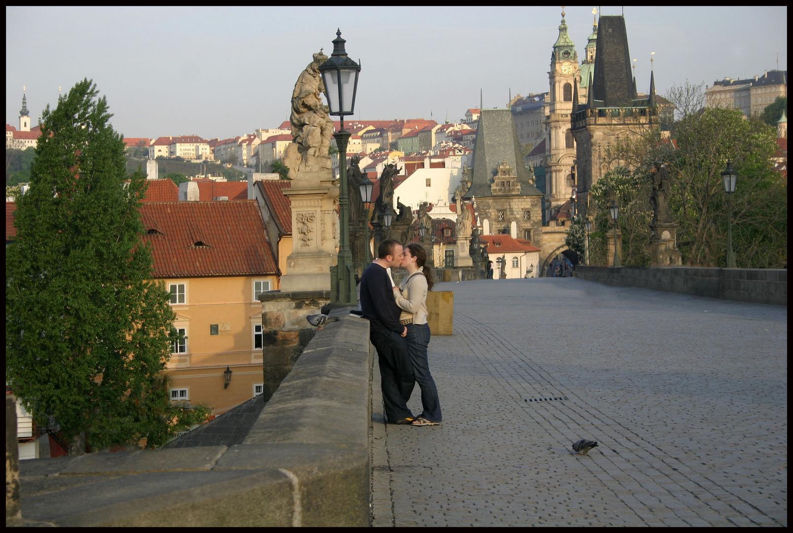 Praga. Puente de Carlos IV . Abril, 2005