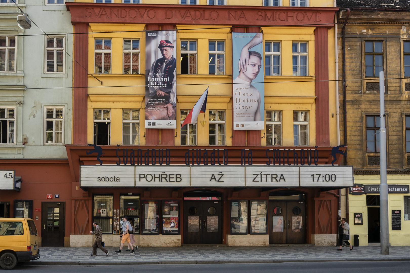 Praga, Teatro Svandovo Divadlo, Quartiere Smichov