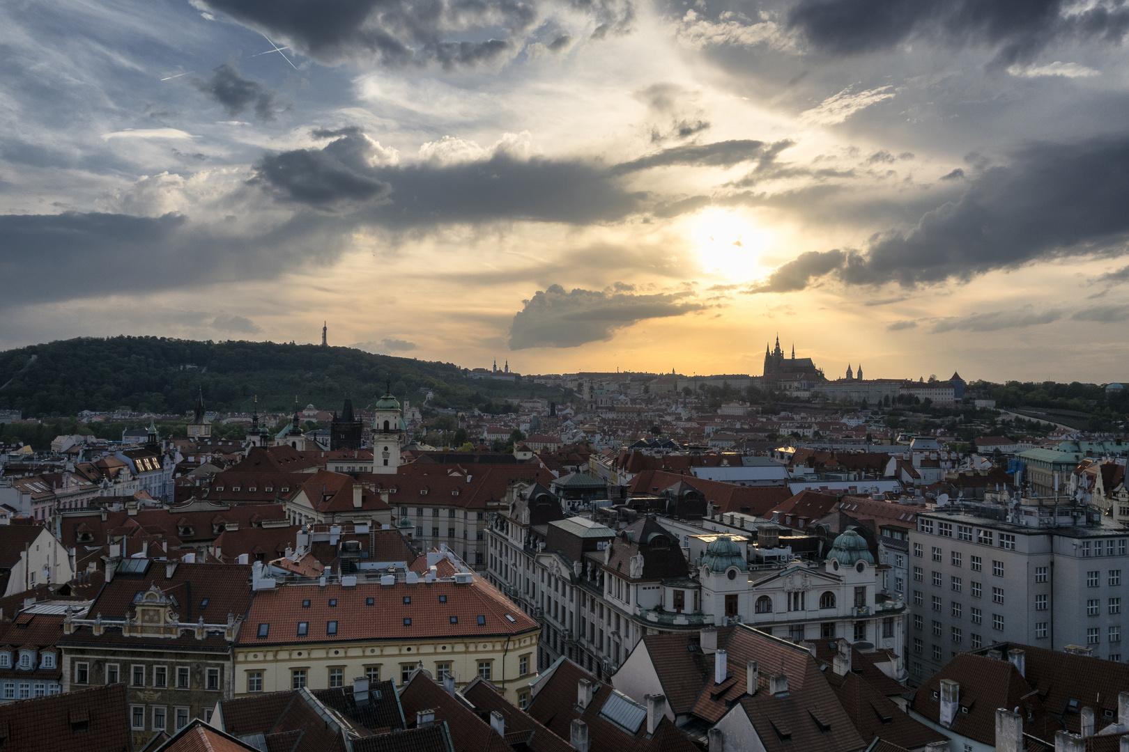 Praga, vista dalla torre del municipio