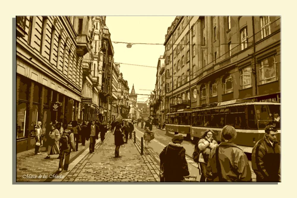 ...Praga y los tranvias...