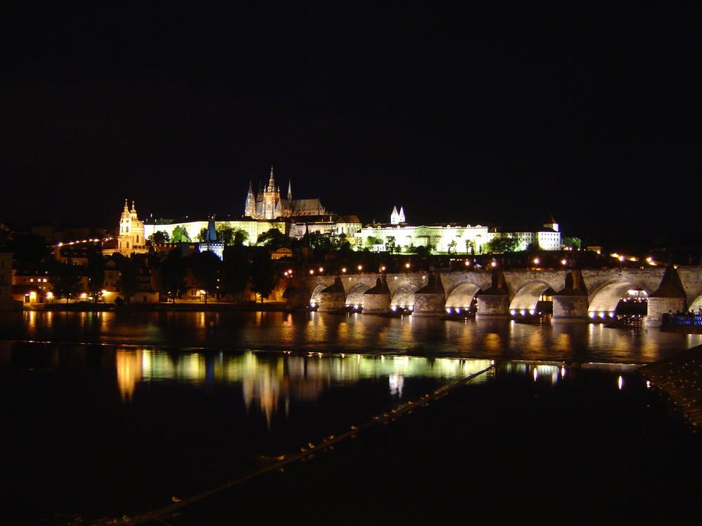 Prager Kleinseite bei Nacht