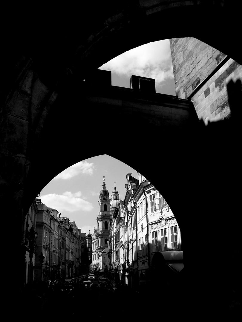 Prager Schattensilhouette