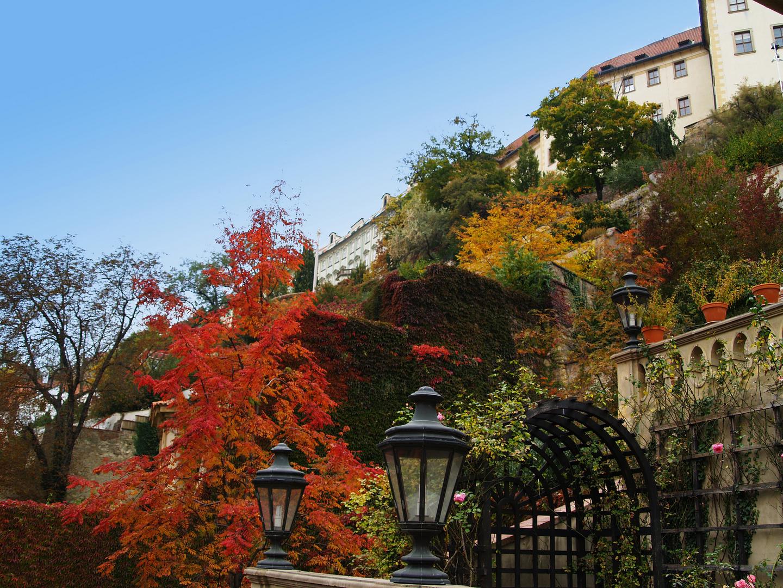 Prager Schloßgarten im Herbst