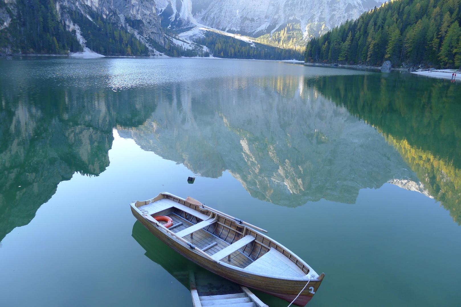 "Pragser Wildsee/Lago di Bráies - Sass dla Porta (Seekofel) - ""Oberland"""