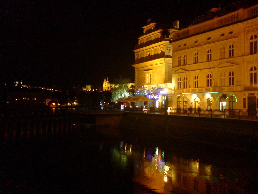 Prague by night