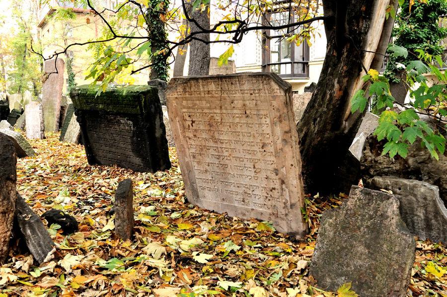 Prague le vieux cimetière juif