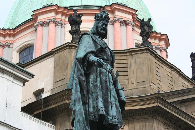 Praha, statue of Charles IV.