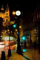 Praha tram clock