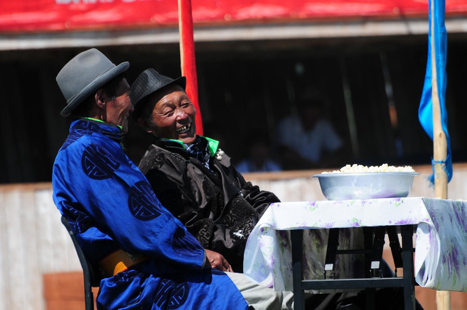 Preisgericht beim Naadam-Fest