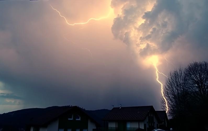 Premier orage de l'année