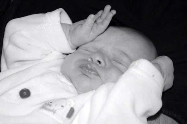 Premières photos de mon fils Hugo