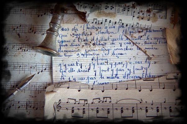 Prendre notes en musique....