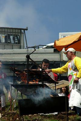 Preparando el churrasco