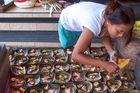 Preparing Banten Canang Merake