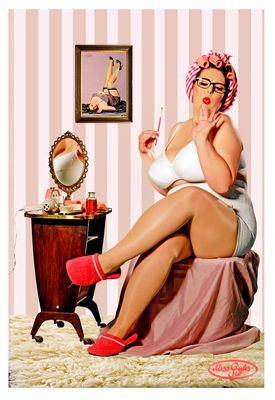 ... preparing for a pinup shoot...