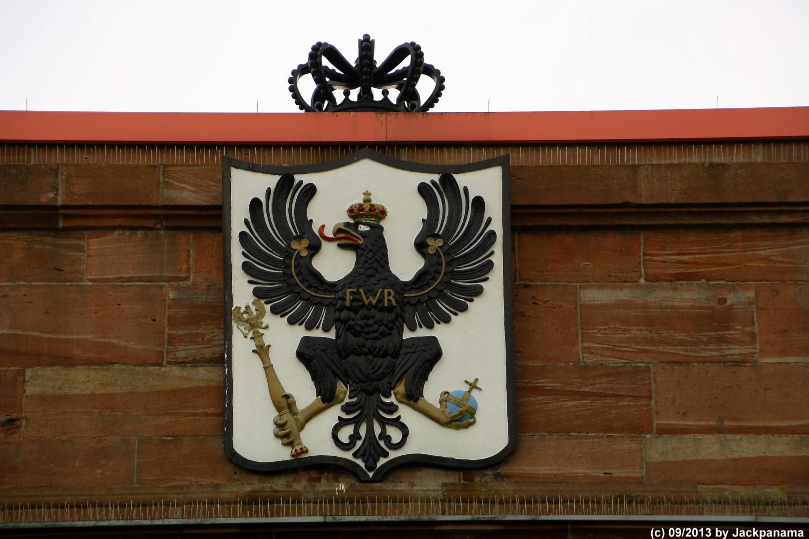 Preußenadler mt Krone  am Tor der Zitadelle in Wesel