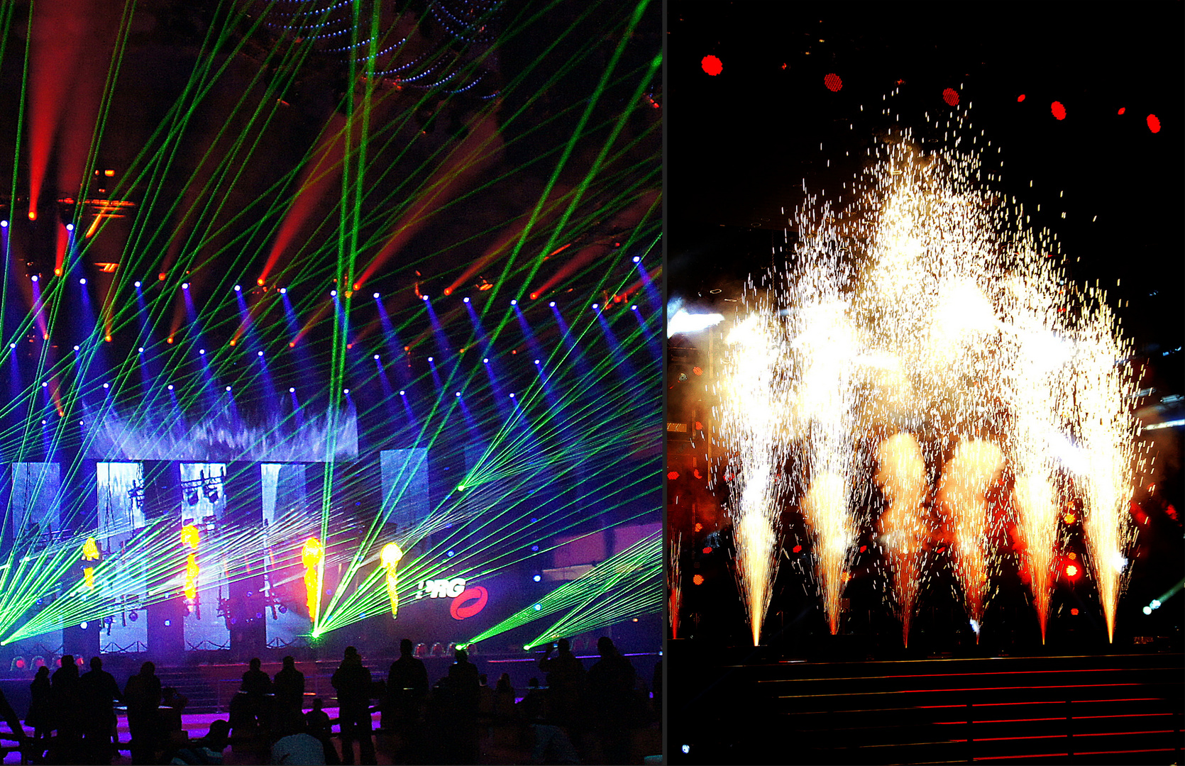 PRG Light and Sound Show: Pyrotechnik