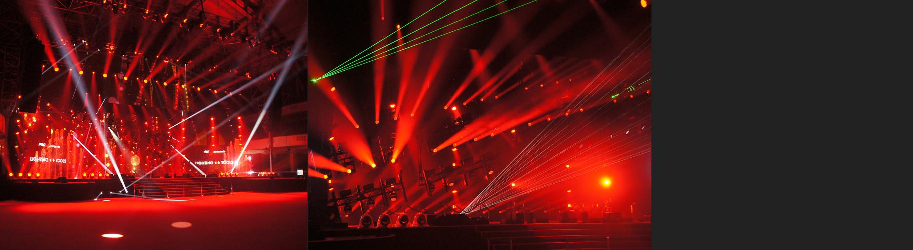 PRG Light and Sound Show: rotes Flutlicht