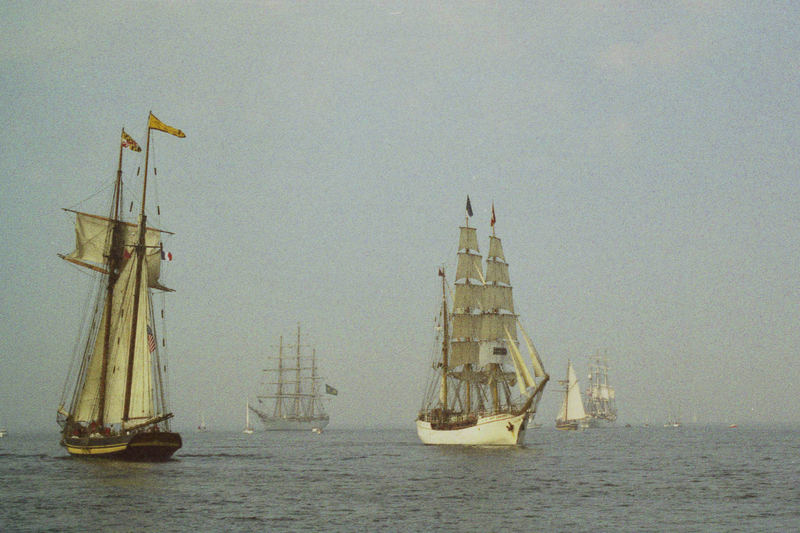 Pride of Baltimore et Europa - Parade Tall Ships Race Cherbourg 2005