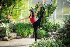 ...Primaballerina im Botanischen Garten...