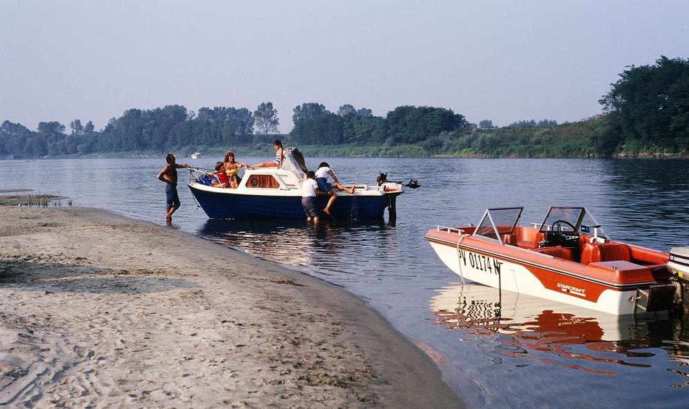 prime gite sul fiume ( se riesce a salire !!!)