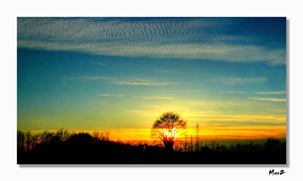 ..Primi tramonti primaverili...