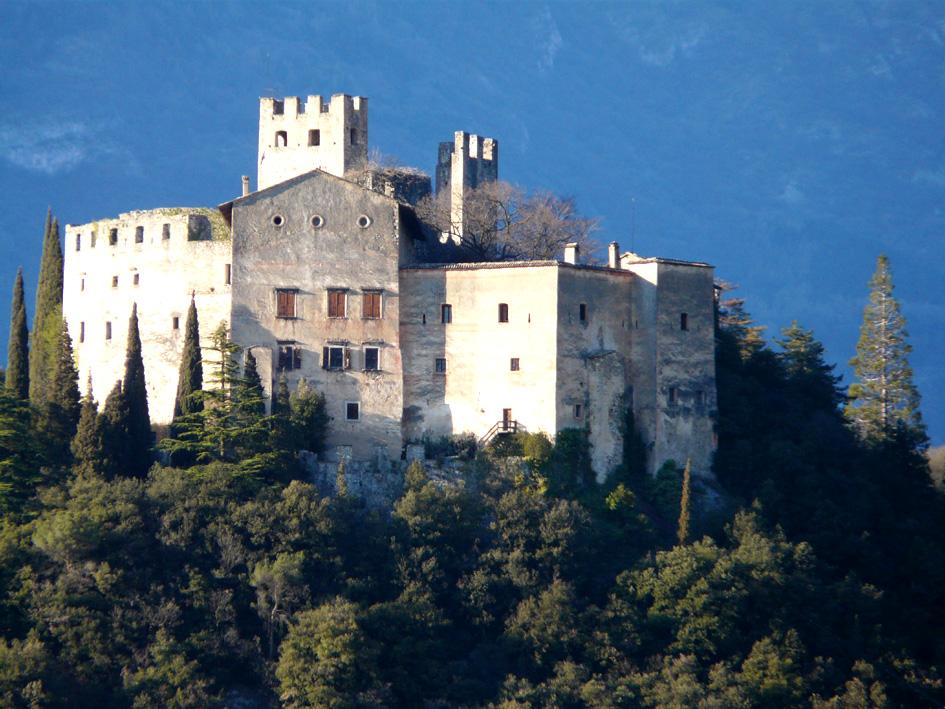 Primo piano di Castel Madruzzo