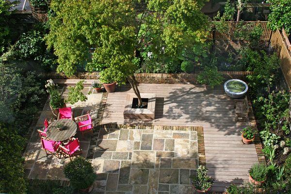 Primrose Hill: Kleiner Garten hinterm Haus