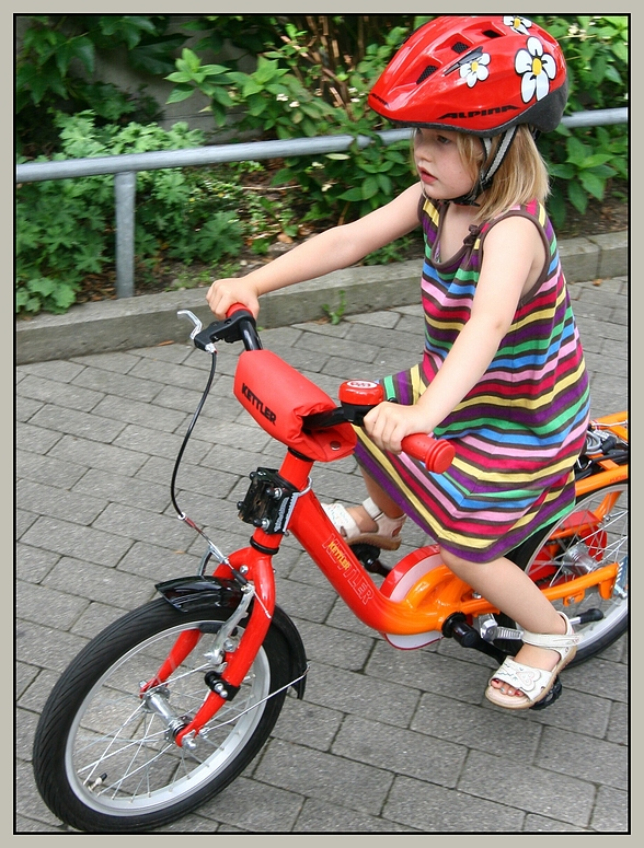 Prinzessin auf dem bike