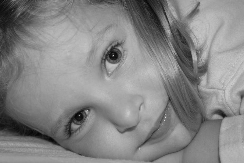 Prinzessin in Bett