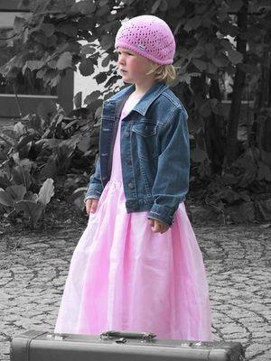 Prinzessin in Jeansjacke ...