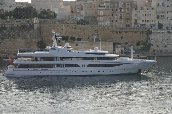 """Private Yacht """"Lady Marina"""" im Hafen von Valetta, Malta"""