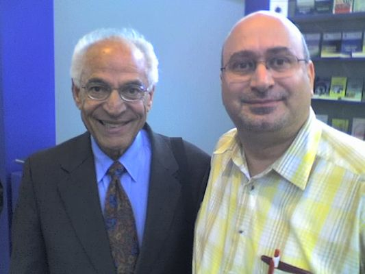 Prof. Dr. Farouk El-Baz mit Dr. Norman Ali Bassam Khalaf, Sharjah, V. A. Emirate