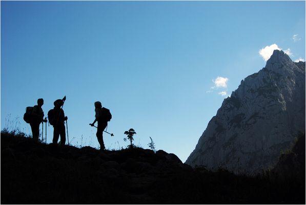 Profilierte Bergwanderer