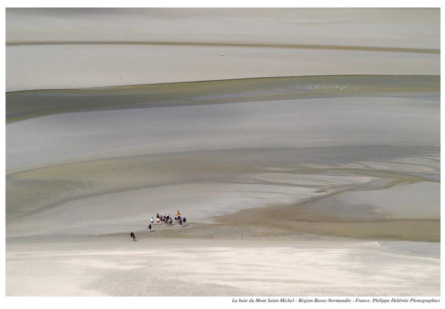 Promenade dans la baie du Mt St Michel
