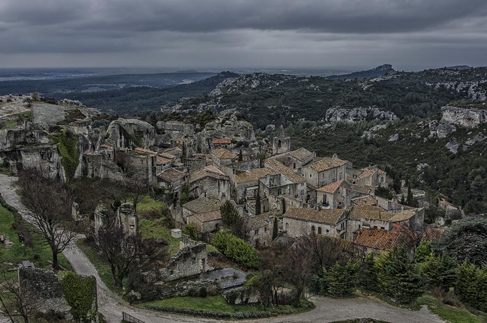 Provence - Blick auf Les Baux