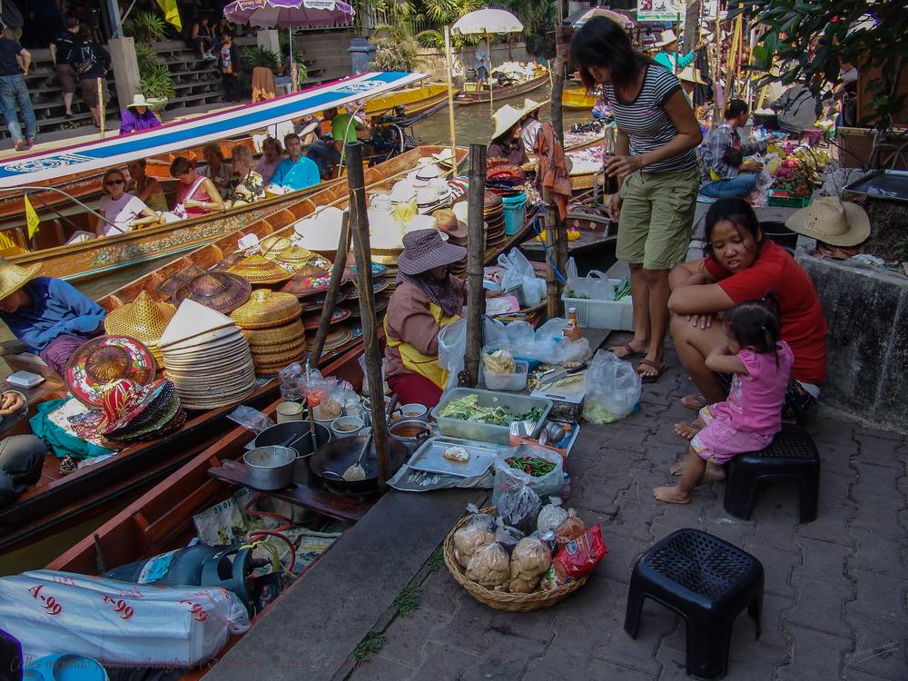 """Proyecto """"Retrato de una calle"""" / Calles del mercado flotante Bangkok (Damneon Saduak Tailandia)"""