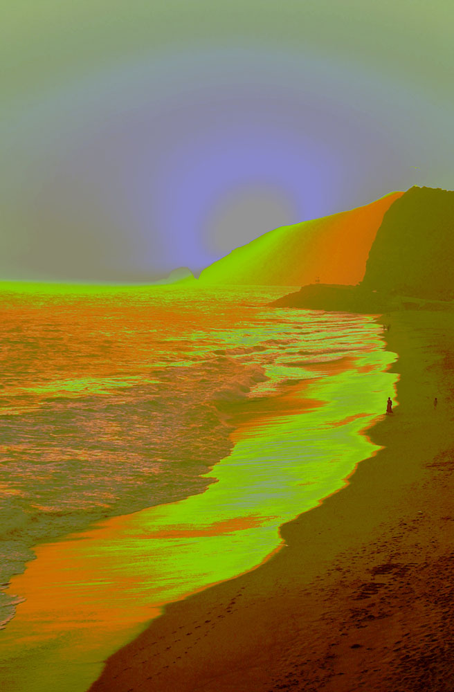Pt Mugu sunset in abstract