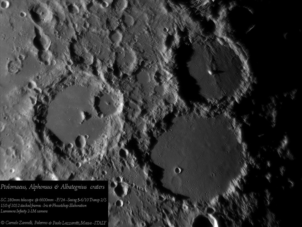 Ptolomaeus, Alphonsus, Albategnius... ancient lunar craters