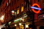 Pub crawling at night in London