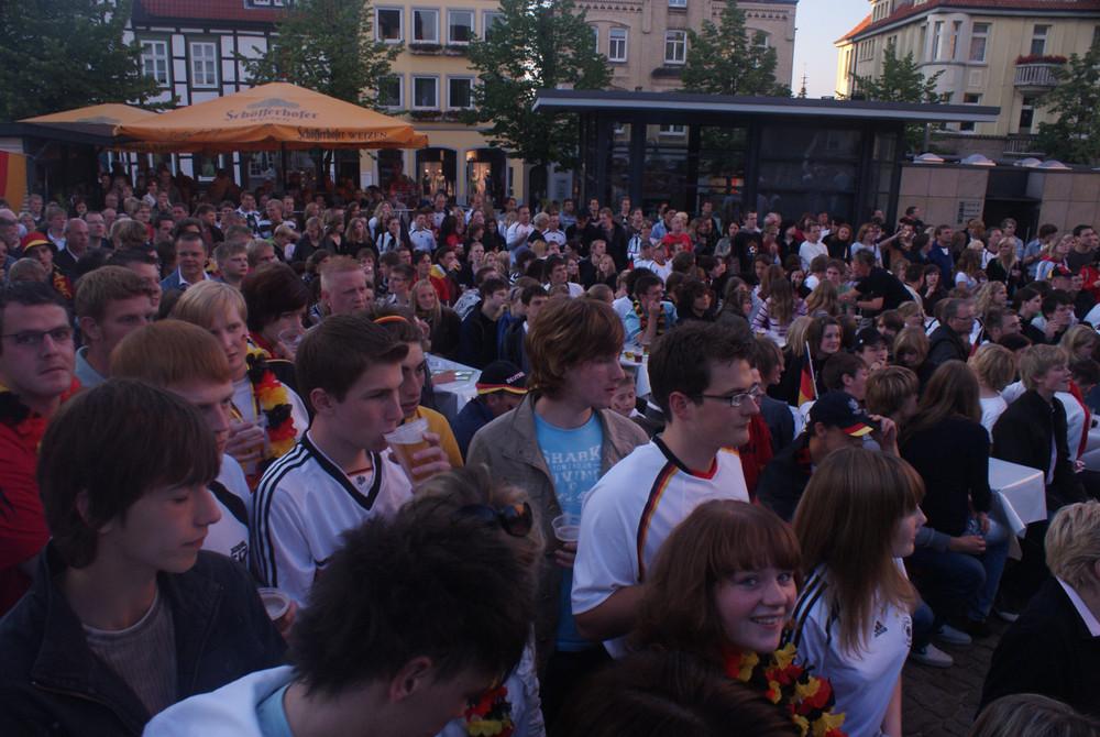 Public Viewing in Warburg am 16.6.08 (Deutschland gegen Österreich: 1:0)
