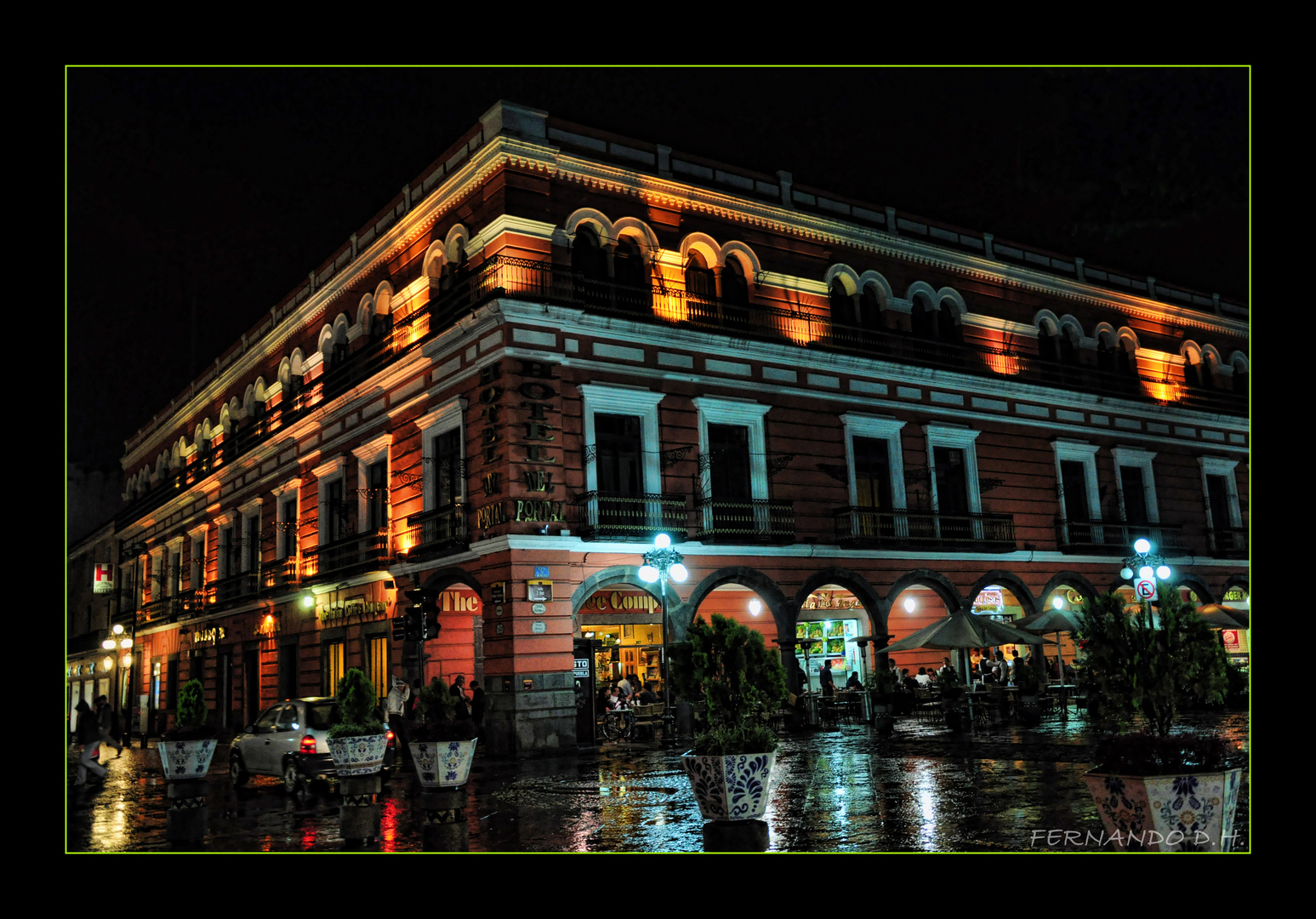 Puebla vista nocturna