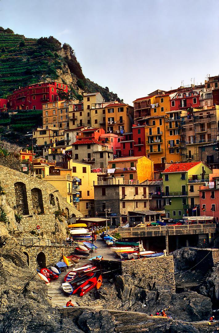Pueblo de pescadores. La Cinque Terre. Italia