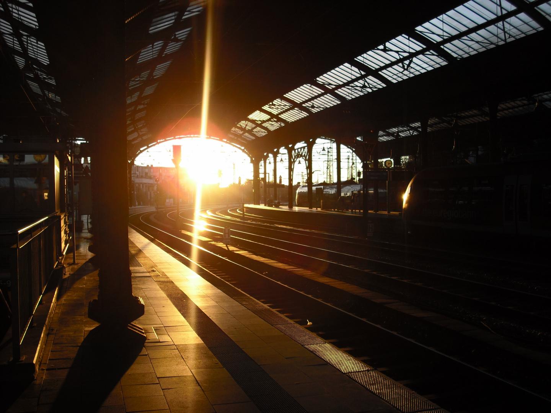 Pünktlich zum Sonnenaufgang